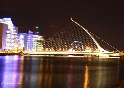 Beckett Bridge with Millennium Wheel in the Background