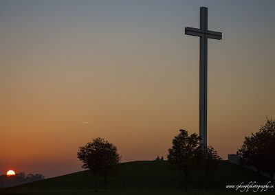 Sunset at the Papel Cross