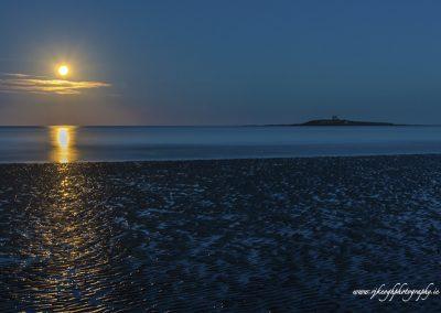 Moonlight at Skerries Beach