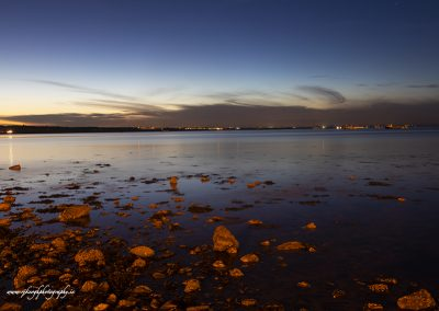 Skerries Harbour at night