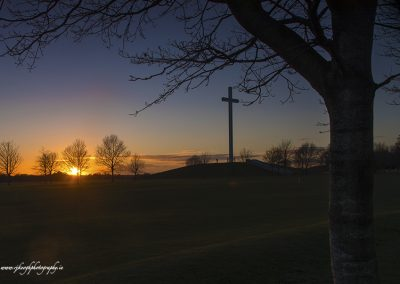 Papal Cross Sunset